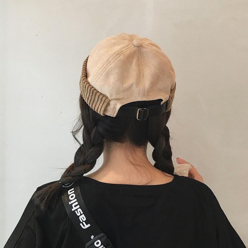 Inverno Docker Sailor Cap per gli uomini donne senza tesa Cappelli scamosciata addensare Hip Hop Beanie Papalina solido di colore autunno Beanie Hat