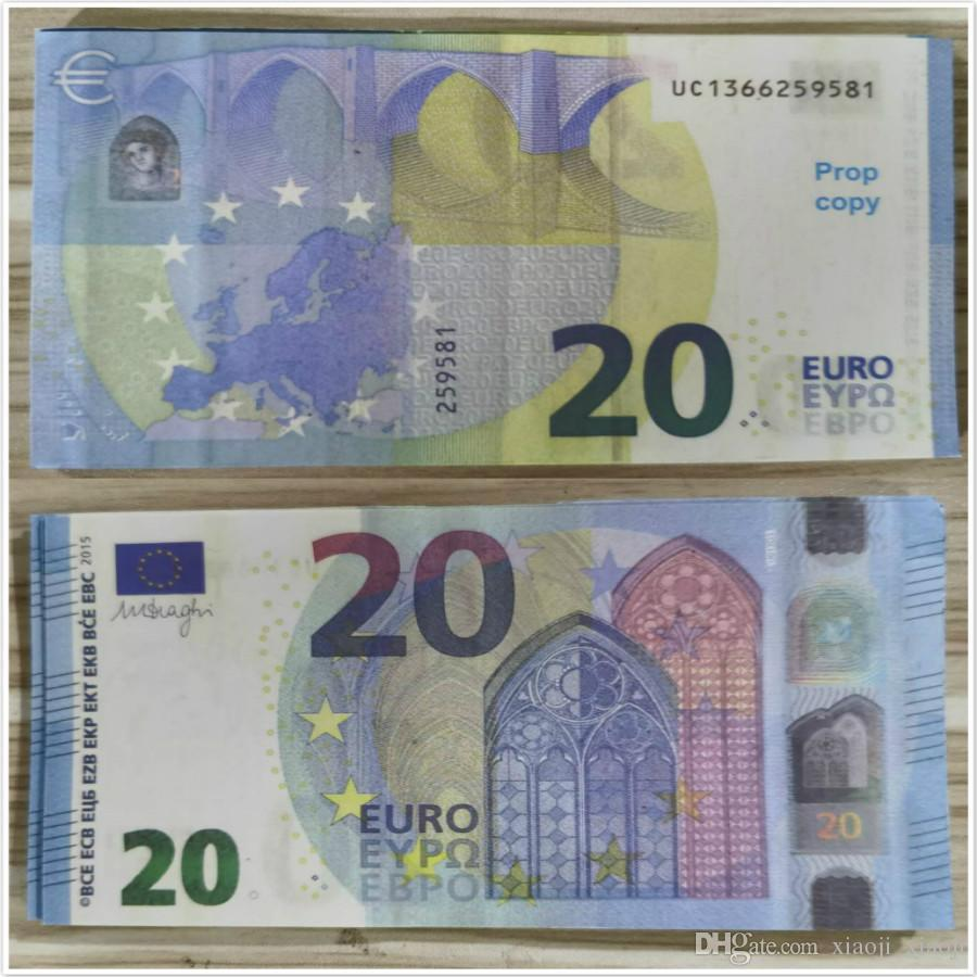 Bühnengeld Faux Billet Geldwährung Euro Bar Atmosphäre Trick Geschenke Kinder Spielzeug Erwachsene Party Festival 20 Stütze Urlaub Kopie Prop Bank Louj