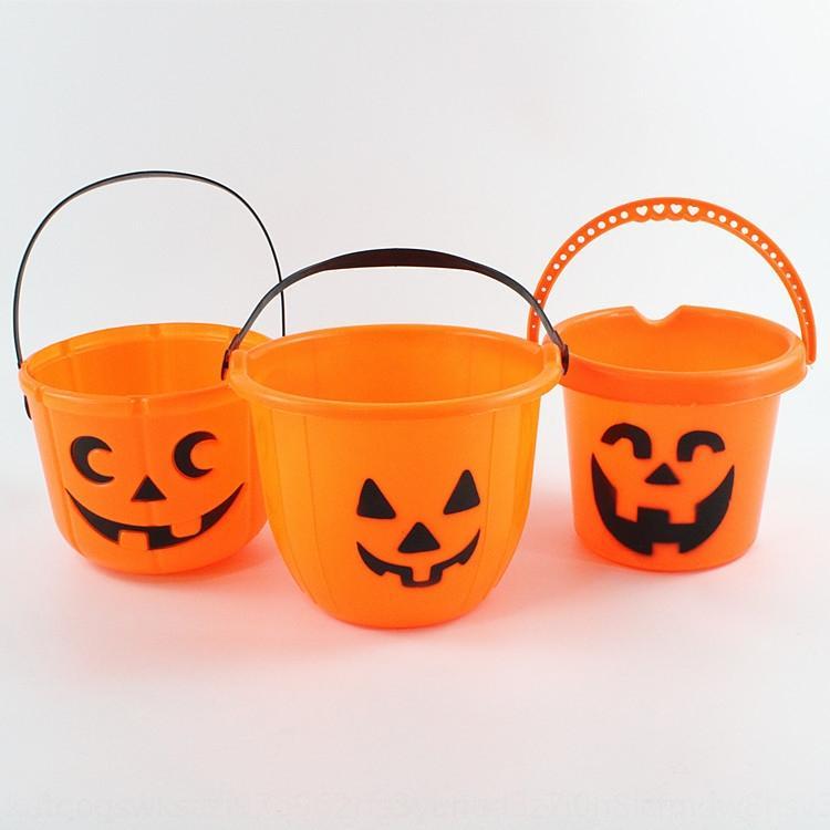 RlIsi Хэллоуин украшение портативной рука детской игрушка Pumpkinheld ведро тыква ведро тыква Jar детских ручные игрушки u12IW