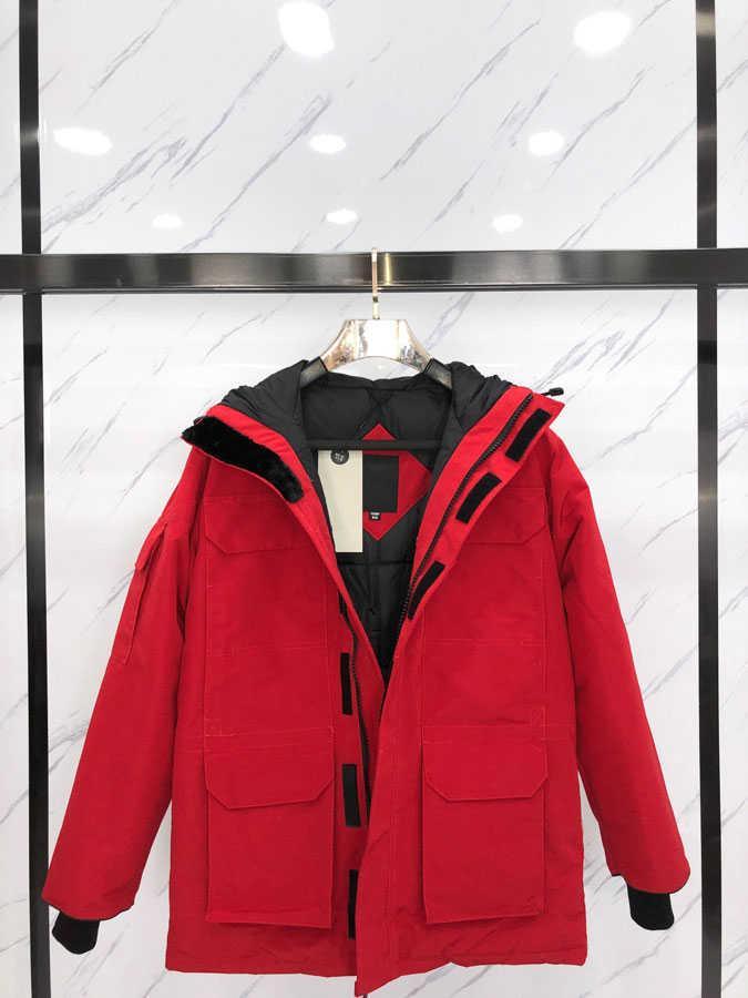 Moda para hombre abajo Chaqueta para el invierno Mantener cálido Casual Hombre para mujer Parkas Coats 20fw New Down Abrigos Unisex Parkas Tamaño XS-2XL