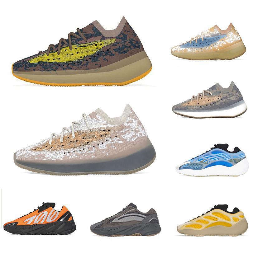 حذاء ركض رجالي 380 v2 azareth srphym 700 v3 كاني ويست للرجال Alvah Azael عاكس ضباب أزرق Oat للرجال والنساء أحذية رياضية للمصممين