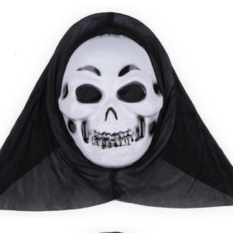 La decoración del horror partido de Halloween del Screaming Esqueleto de la mueca de la cara llena Apoyos para las máscaras de la mascarada Hombres Mujeres Bwf279