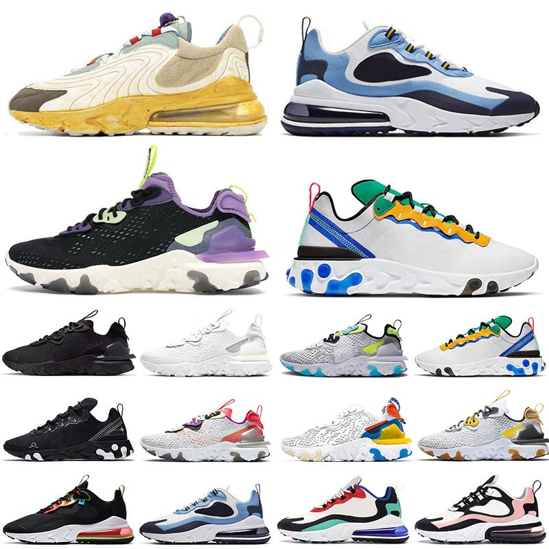 nike react أحذية Nike AIR Max 270 React ENG Travis Scott Cactus Trails Element Undercover 87 55 React Vision stock x الاحذية أحذية رياضية جديدة فاخرة للرجال
