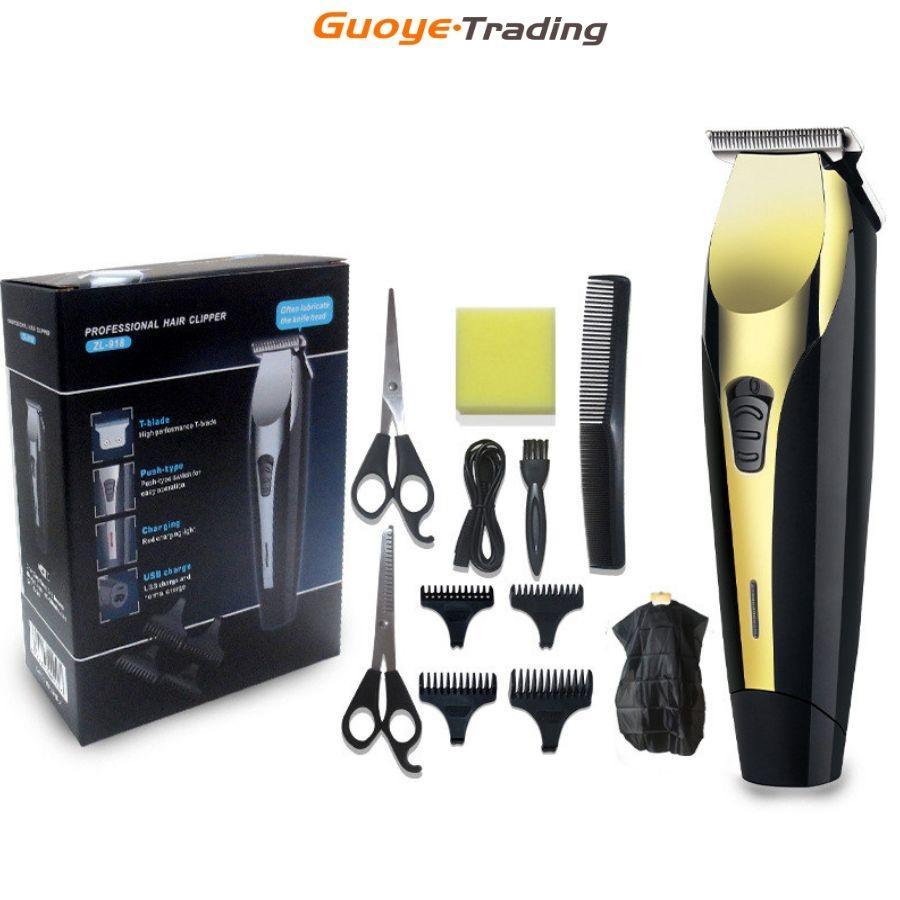 Clippers de cheveux rechargeable tondeuse électrique de tondeuse professionnelle Rasage pour hommes Barbiers Salon Styling Cutter Machine de haute qualité réalisée dans des lignes d'usine avancées