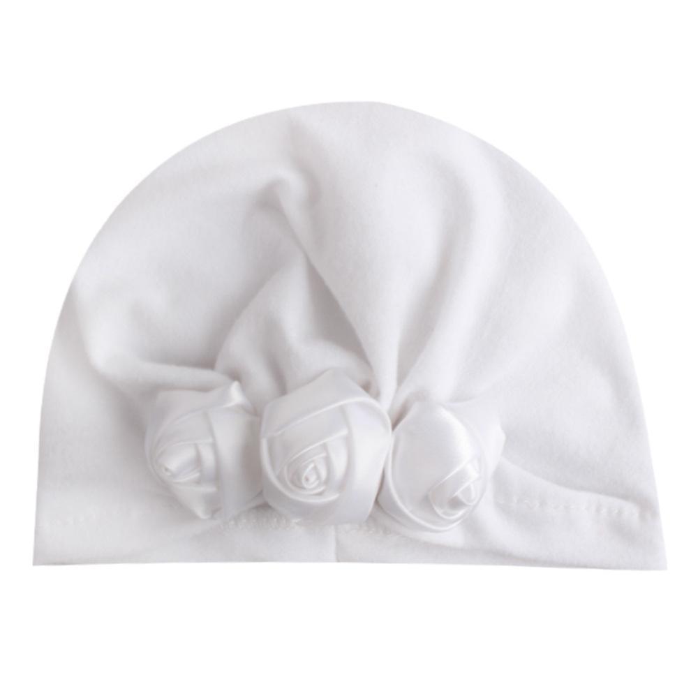 1 PCS Enfants de Lytwtw Baby Flower chapeau de fleur enfants Cap Nouveau-né Filles Photographie Printemps Spring Automne Modis Bonnet Turban Infant Props H Jllwwi