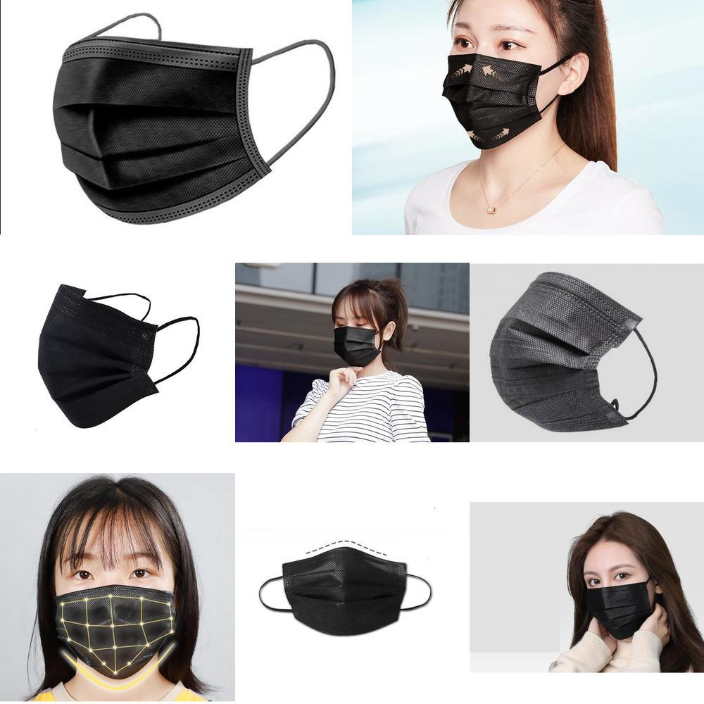 Mask Unisex Free 7339044 Shipping Black Disposable Stock 3 Layers Face Masks Kn 95 Mouth Anti 1 RZYK