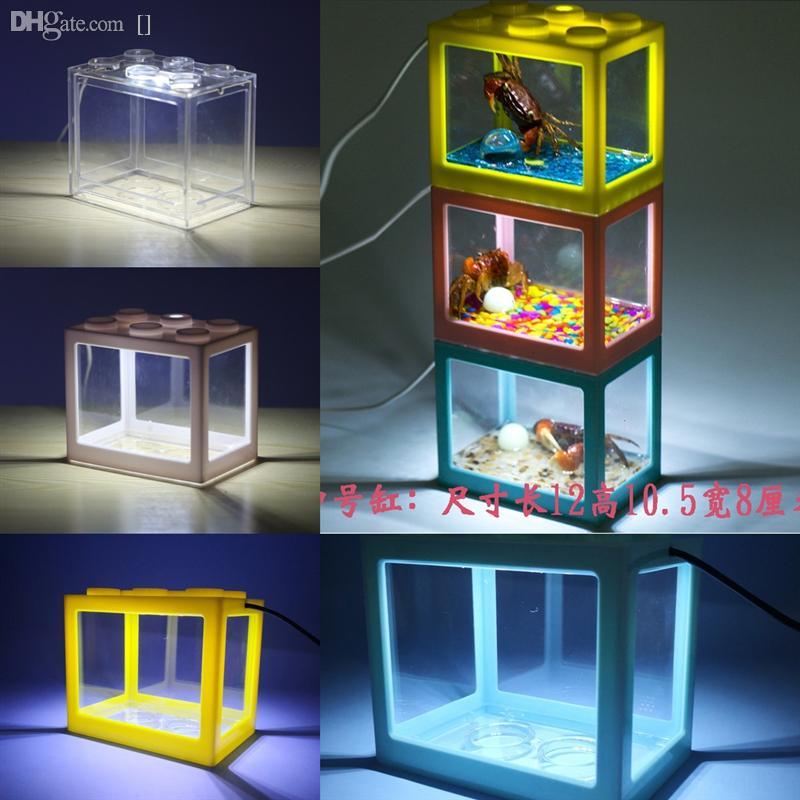 1K63M Yapay Mercan Süs Cam Akvaryum Akvaryum Dekorasyon Için Balık Tankı Işık Lego Blokları Peyzaj Balık Akvaryum Dekorasyon