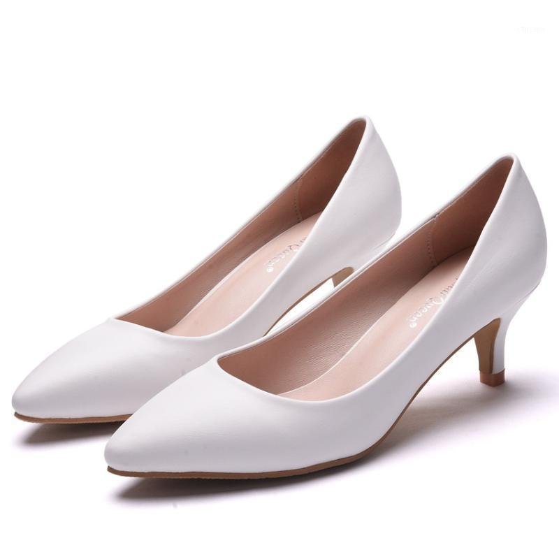 2021 spring new fashion pointed toe shoes shallow mouth large size stiletto wedding shoes simple banquet dress women's1