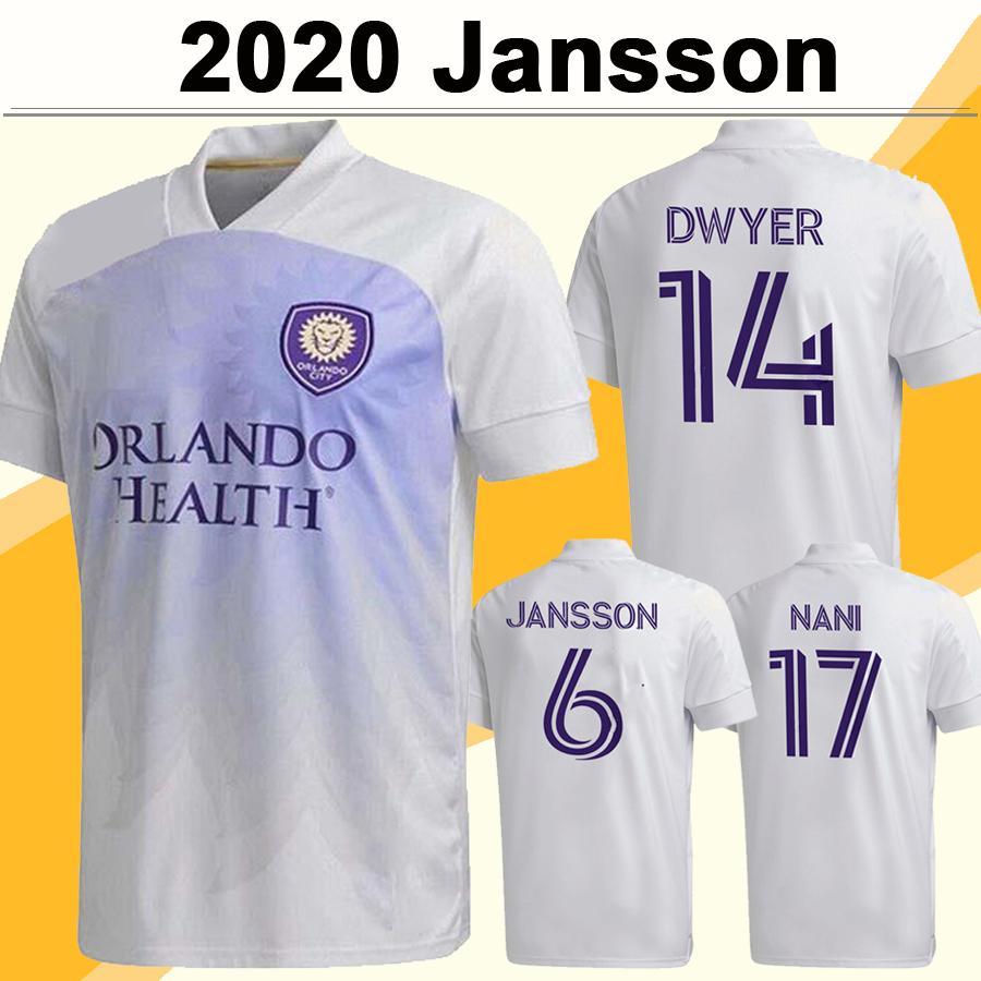 2020 Orlando City Mens SC Soccer Jerseys New MOUTINHO RUAN MUELLRUANER AKINDELE DWYER NANI JANSSON Away Football Shirt Short Sleeve Uniform
