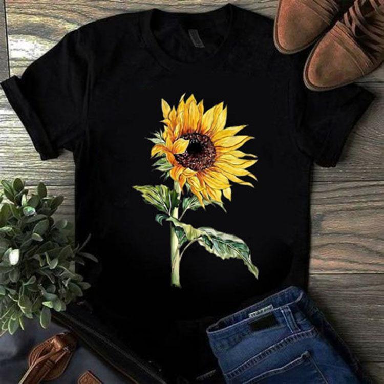 Designer T-shirt Kurze Ärmel Tops Kleidung für Frauen Mens Sonnenblume gedruckt 2020 Neue Designer Rundhalsausschnitt Baumwollmischung T-Shirt