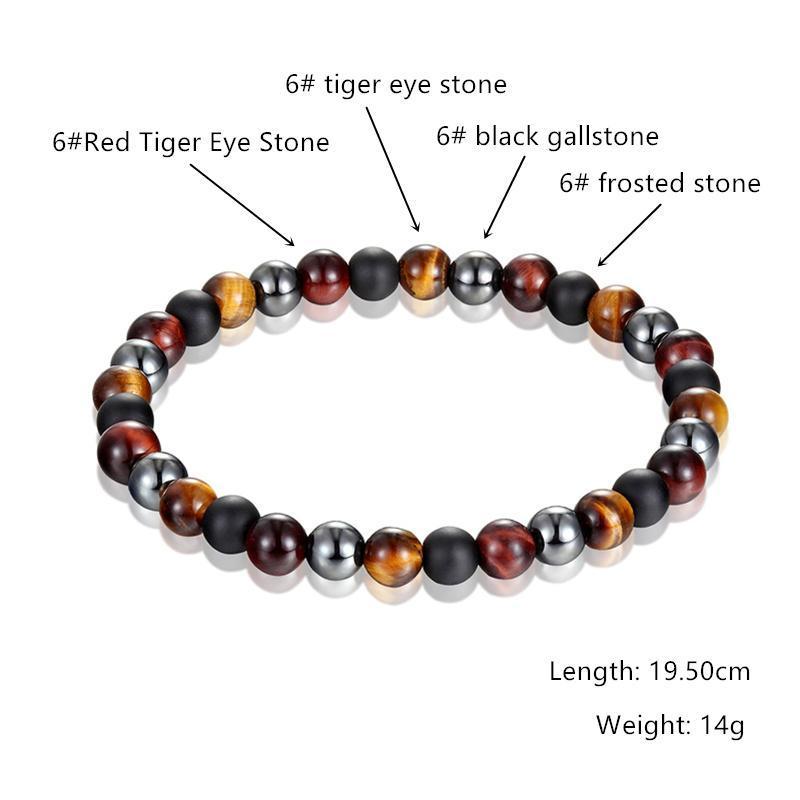 2020 Горячие моды Тигровый глаз Гематит черный обсидиан 6mm8mm10mm Камень браслет мужской браслет лета женщин подарков Pulseira
