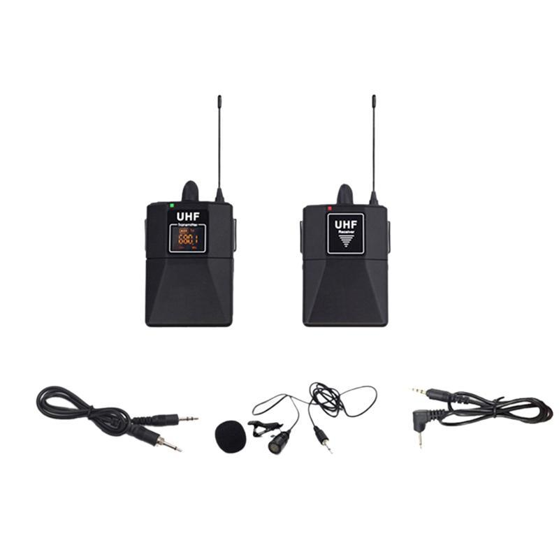 UHF micrófono de solapa micrófono inalámbrico UHF micrófono de solapa para la entrevista del programa de grabación de teléfono
