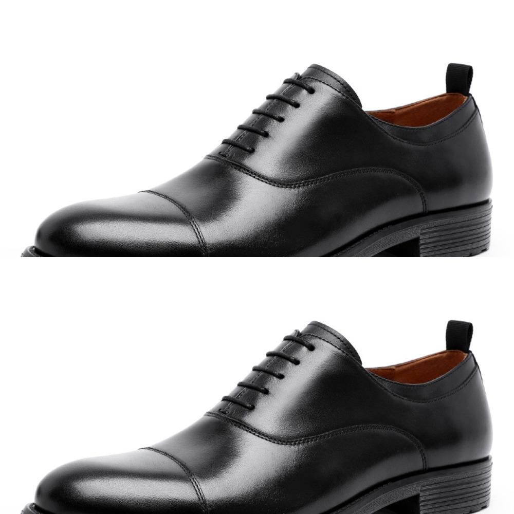 009pj New men's top layer cattle leather gradual change upper gentleman's three joint lace up men's shoes leather wedding shoes