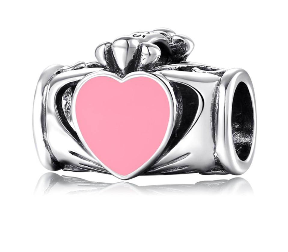 S925 pure silver beads creative friendly love series handmade accessories enamel process silver jewelry beads