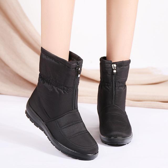 Caldo inverno stivali donna stivali 2020 nuovi pattini della caviglia delle donne impermeabili le racchette da neve della madre di modo signore Solid