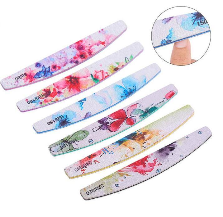 Fichier à ongles Professionnel Fleur Tableau à ongles Flower Block Polonais Ponchon Nail Art Pédicure Outils Salon Sander Accessoire2022