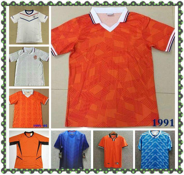 Retro Países Baixos Bergkamp Jersey 88 95 1996 97 98 2000 02 2012 14 Holland Gullit Retorno Camisa de futebol Van Basten Antigo Maillot