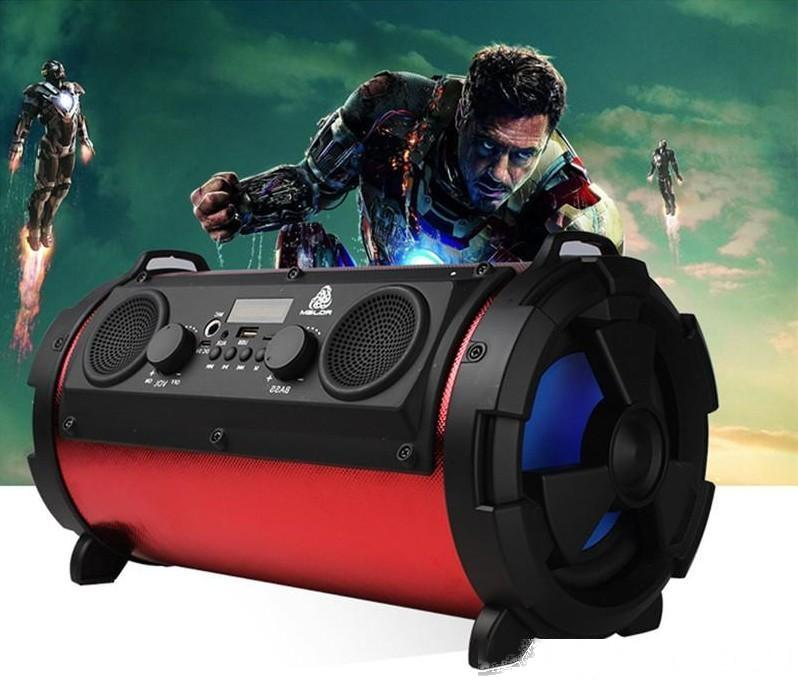 15W Grande Puissance Hi-Fi sans fil Bluetooth Haut-parleur extérieur multifonction Caisson de basses Rafraîchissez LED Lumière basse stéréo Lecteur de musique LLFA