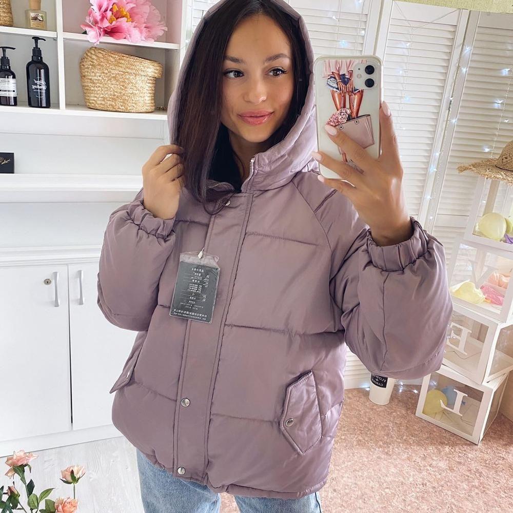 Зимние женщины ветровка пальто 2020 вскользь сгущает прогреть с капюшоном телогрейки Женской твердой красочным стилем устаревать снег куртки