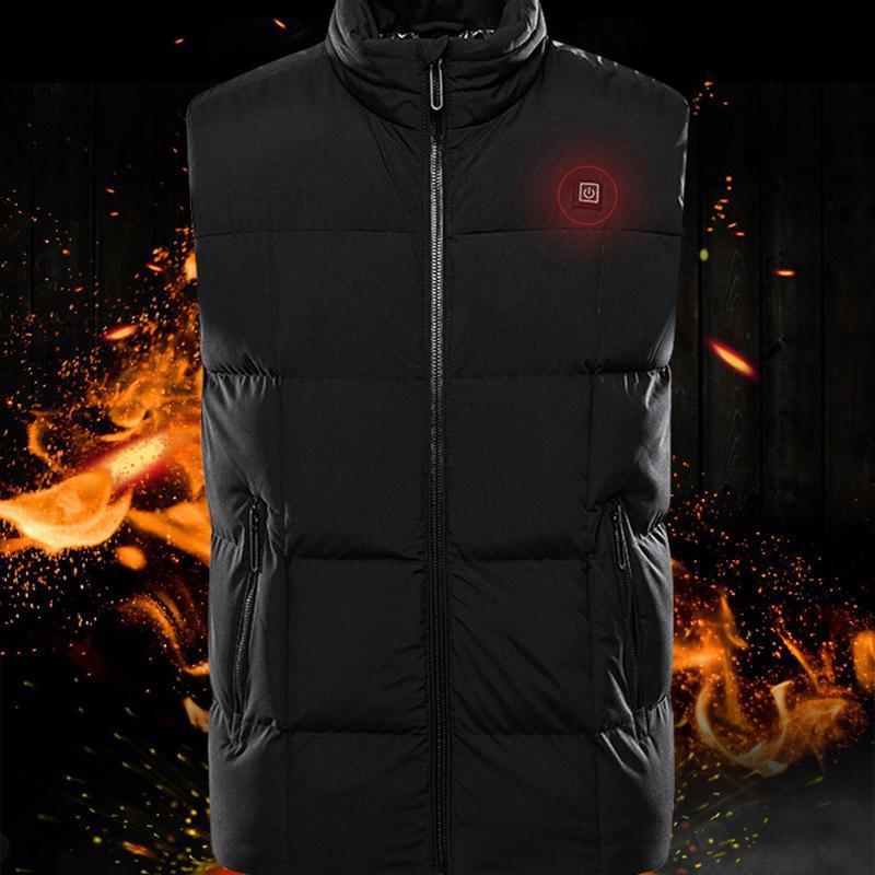 Открытый футболки 9 районов с подогревом жилет мужчина женская куртка зимняя рыбалка охота тактическое USB Veste Chauffante
