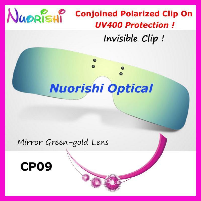 10pcs CP09 Conjoined polarizada clip en con clip invisible para lente de los vidrios gafas con protección UV400 envío