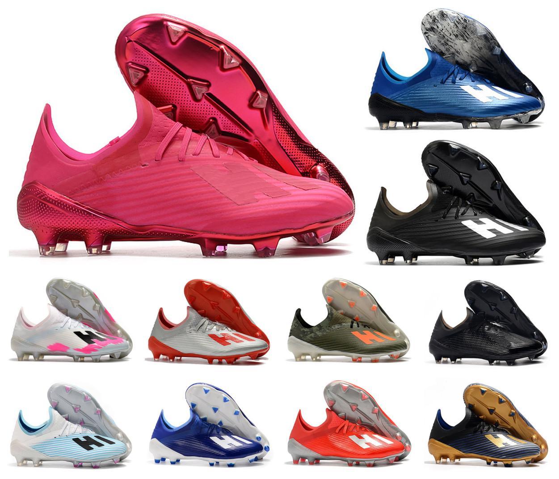 Hot 2021 x 19.1 FG Futebol Mens Football 19+ Salah Jesus Sapatos 19 + x Rosa Botas de futebol Botas de futebol Greats Size39-45
