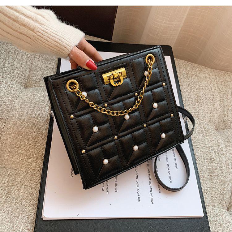 Square Fashion Messenger 2021 Ledertasche Mode Designer Neue Schulter PU HBP Damen Tote Handtasche Kette Hochwertige Taschen Tasche Dgiph