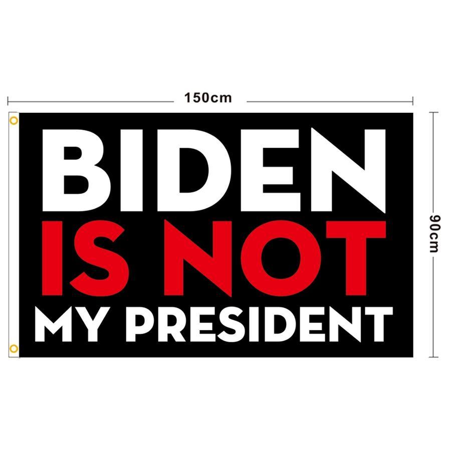 BIDEN FLAG 90 * 150 cm Biden non è il mio presidente Banner Stampato Biden Harris Bandiera Poliestere Bandiera Banner Sea spedizione Sea DDA845