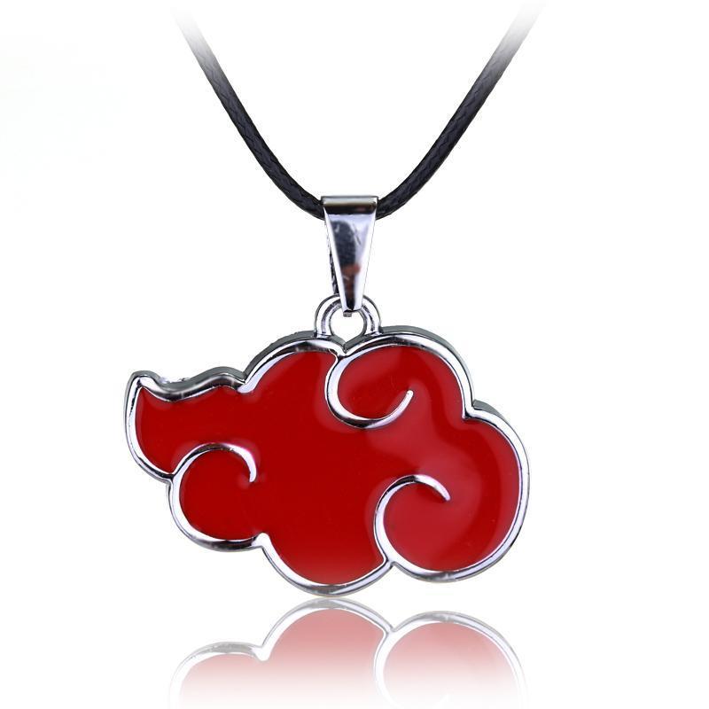 Catene Fune Logo Classic Leather Anime Naruto Nuvola Rossa Collana Akatsuki del membro Gioielli collane delle donne degli uomini di moda