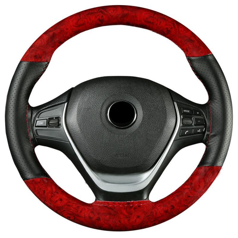 Кристалл красного дерева мода спорт ручной сшиты руль крышка четыре сезона GM покрытие захвата не скользит и износостойкие