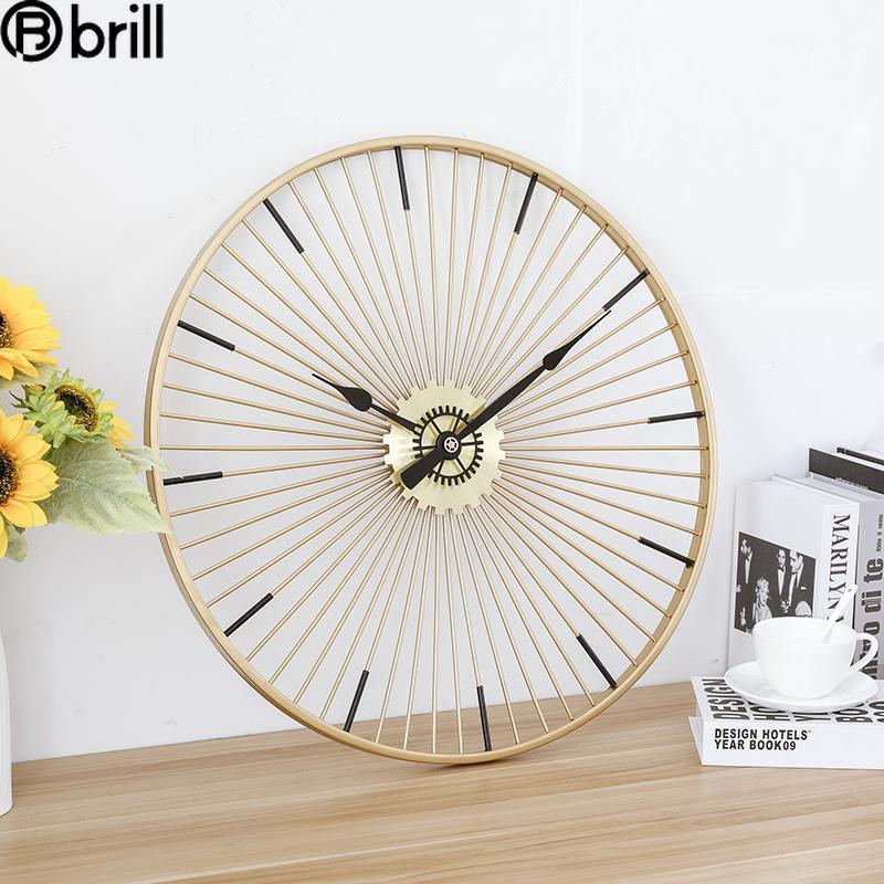 Большие минималистичные роскошные настенные часы металла творческие большие настенные часы современный дизайн Nordic Creative современный 501