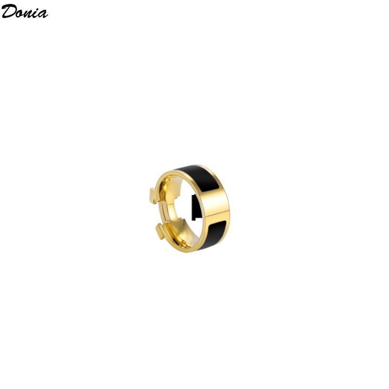 Dona Jewelry Hot Ring Fashion Suit Suit smaltato anello in acciaio in acciaio europeo e americano anelli uomo e donna creativi con scatola