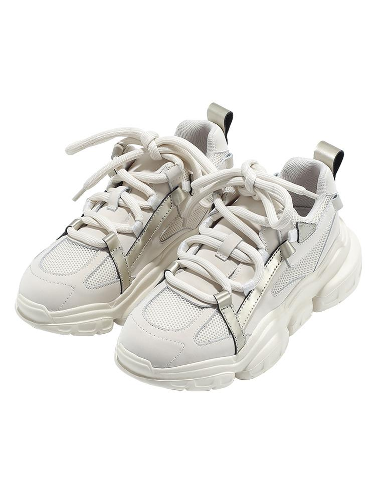 Европа станция Женская обувь 2020 Осень Новые Истинные Повседневные Обувь Платформа Губка Торт Кроссовки с Павой Обувь Instagram Trend