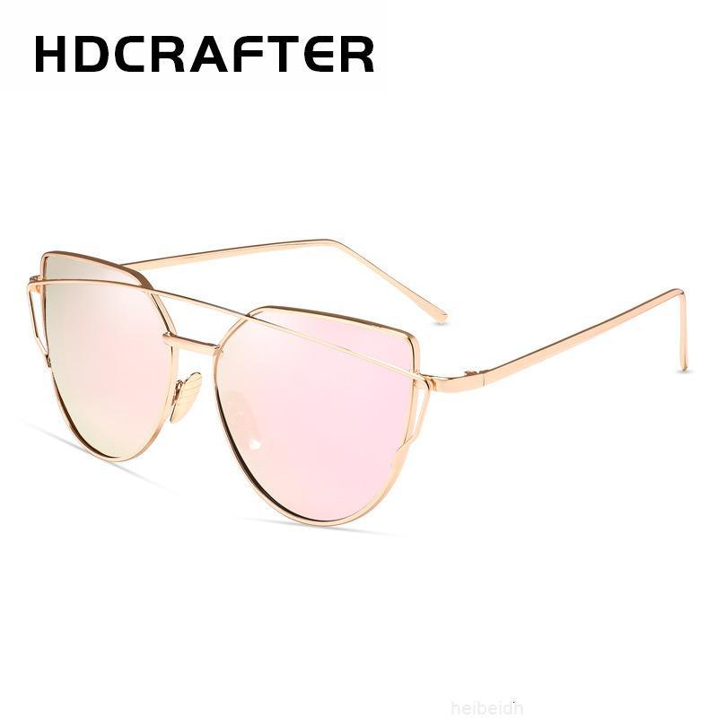 Gafas de sol Color de metal Gafas de película Coreano SC013