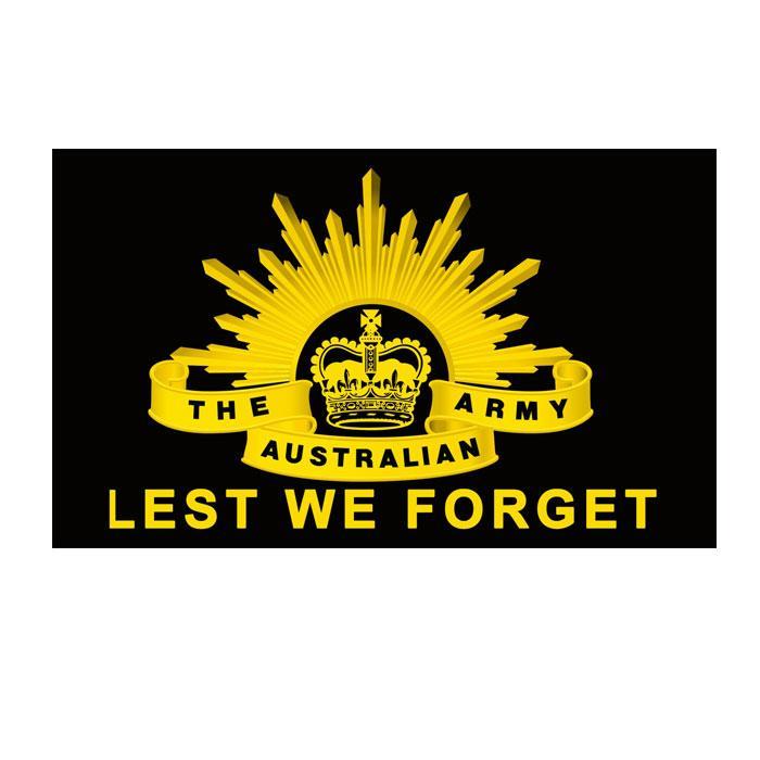 Flagge Australische Armee 3x5 FT Doppel Stitching Banner 90x150cm Partei-Geschenk 100D Polyester Printed Heißer Verkauf Lest We Forget!