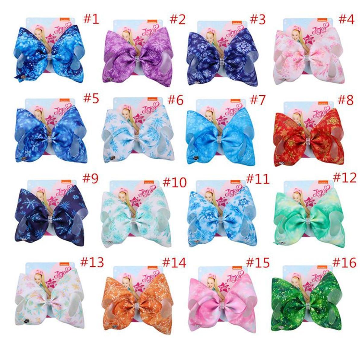2020 Девушки Swia Bow Hair Clip Bows Snowfilkake Fairclip Barnettes для детей Прикосновение для волос Аксессуары для волос с картонными подарками