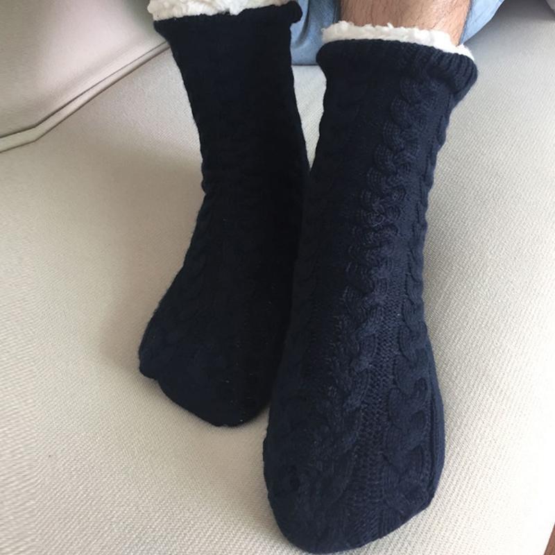 Terlik Erkekler Kış Ev Terlik Kapalı Kat Çorap Ayakkabı Yetişkinler Sıcak Kalınlaşmak Artı Kürklü Slaytlar Yumuşak Terlik Hommes Chaussures 201127