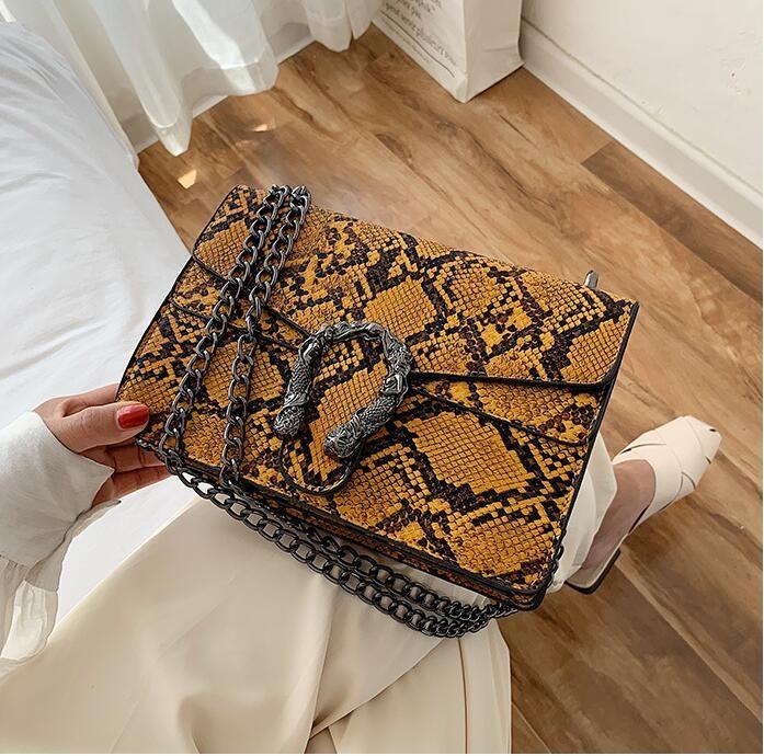 оптовые женщины сумки женщин цепи запорного мешок улица тенденция контраст цвет кожа плечо сумка новой кожаный моды мешок посыльного