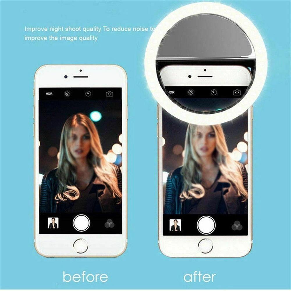 Lampe selfie Universal Mobile Téléphone Portable Objectif Flash annulaire 36 LEDS anneau lumineux lumière clip pour iPhone Samsung
