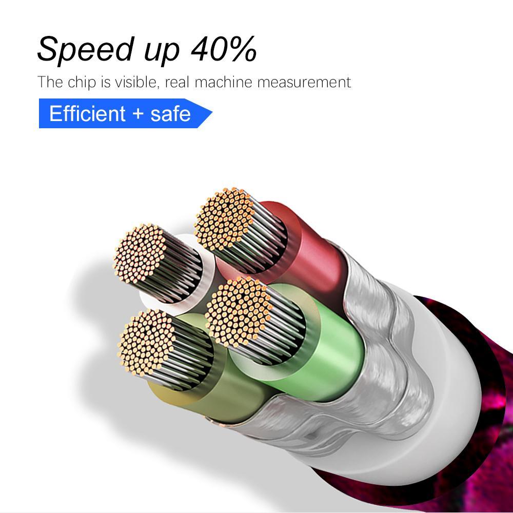 2A Micro Nylon USB Cabos de sincronização de dados Mobile Phone Adapter Charger Cable para Samsung Sony HTC LG Android carregamento rápido