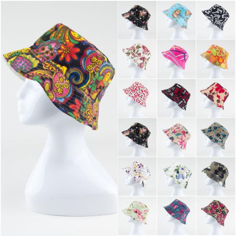 1шт Марка Весна Женщины Hat Cap Мужчины Bucket Hat Flat дамы ВС мужчина Цветочные женщина лето Hip Hop Panama Cap