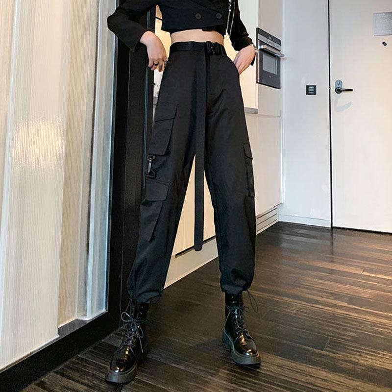 2021 novo cinto de carga de moda plus size feminino alto streetwear senhoras jogging calças esportivas p4nw