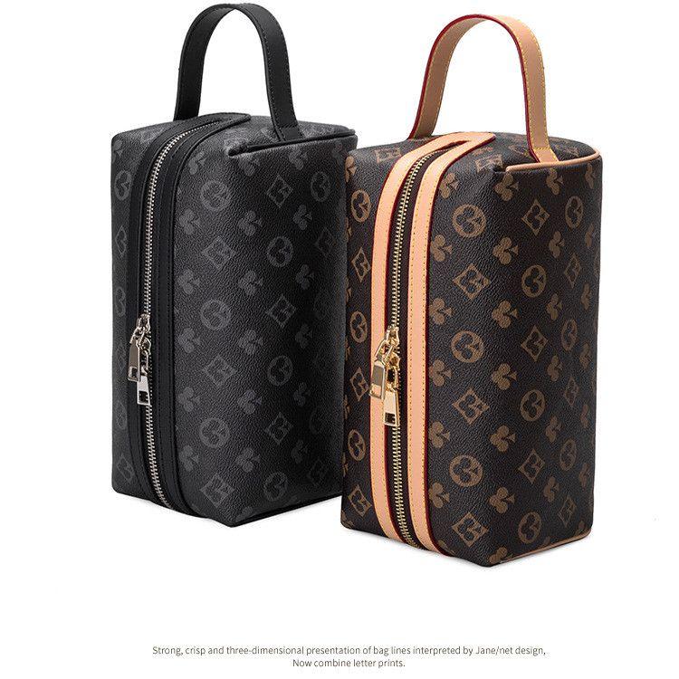 2020 novo design impressão bolsa de saco de capacidade simples cilindro cilindro simples armazenamento de maquiagem portátil macho e grandes sacos femininos bbdpk