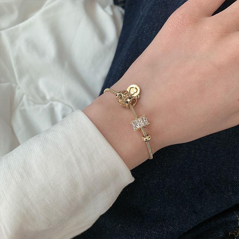 Luxury Crystal Heart Charm Bracelets Bangles Gold Bracelets For Women Jewellery Pulseira Feminina Bracelet