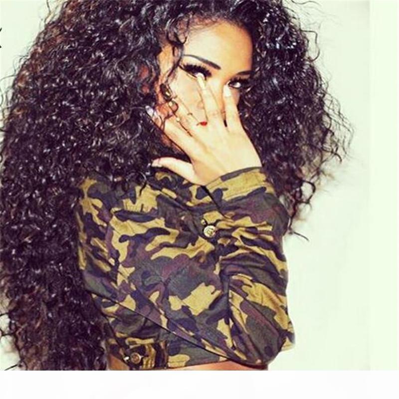 180% de densidade completa Lace cabelo humano perucas para mulheres negras da Malásia Cabelo parte dianteira do laço do cabelo humano peruca 7A Malásia onda profunda