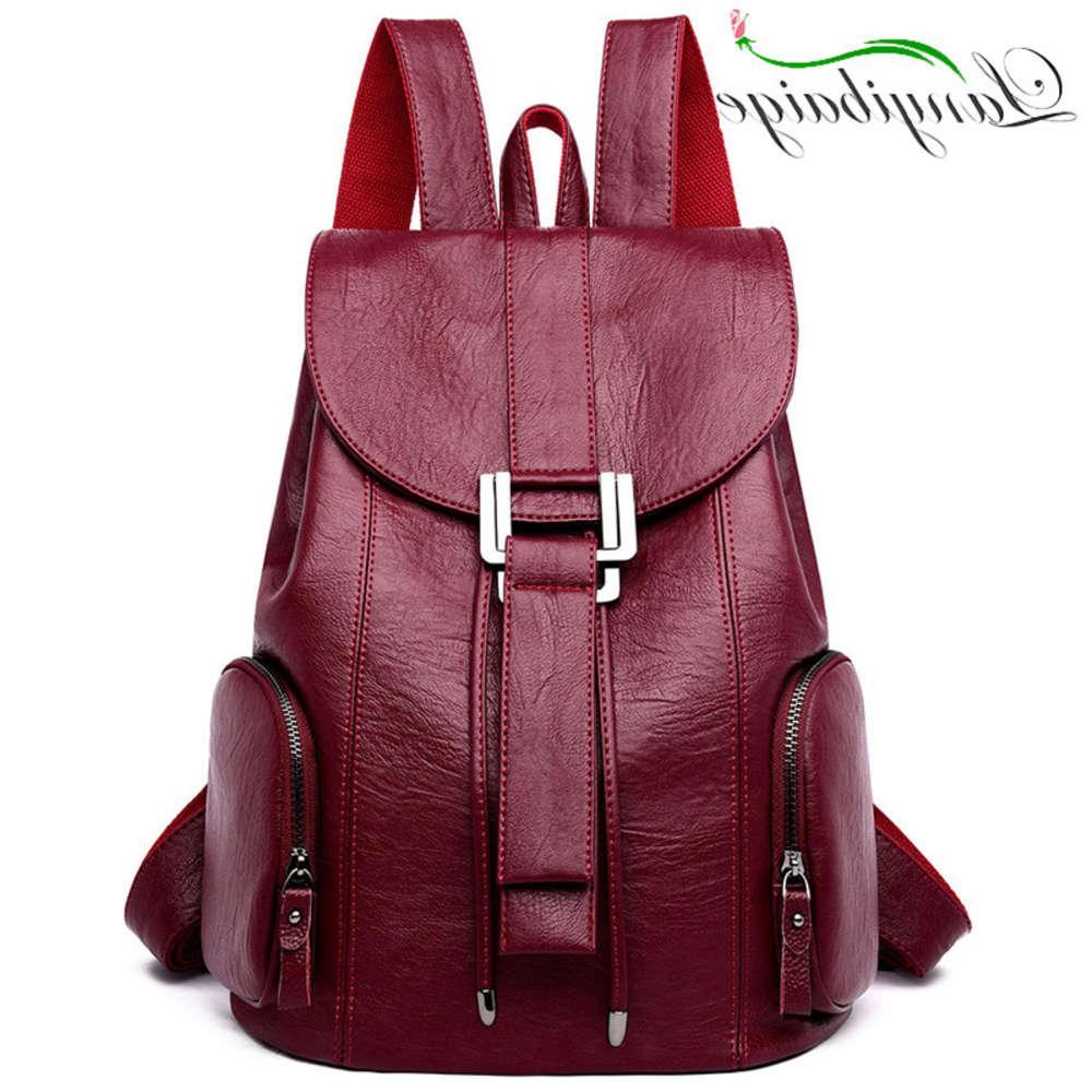 Yüksek kaliteli deri kadın yeni varış moda kadın sırt çantası dize çanta büyük kapasiteli okul çantası mochila feminina