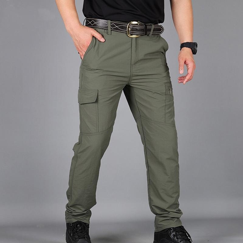 Thoshine Marque Men Summer Hommes Casual Cargo Pantalons minces Pantalons Seconde Everfe Everfe Srefrofond Military Tactique 201118