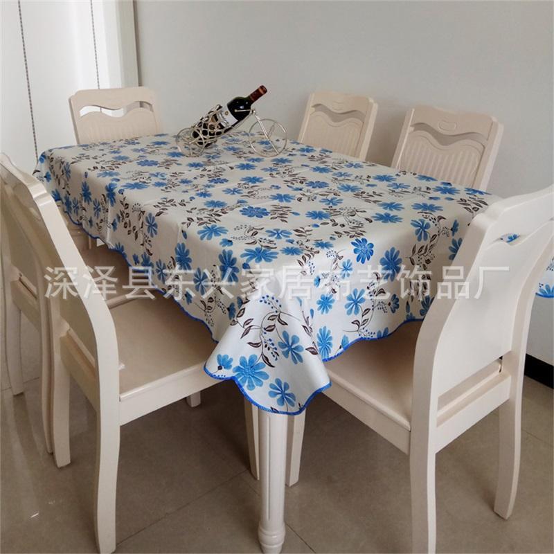 PVC Plastik Masa Örtüsü Kafes Çiçek Desen Dikdörtgen Dairesel Su Geçirmez Yağlı Çay Masa Örtüsü Çok Renkli Ev Eşyaları 11DX J2