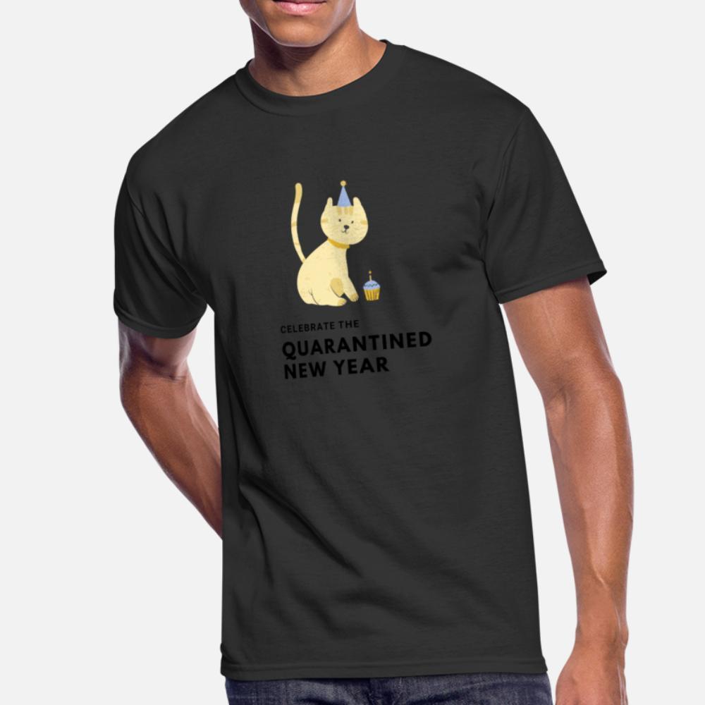 Праздновать карантин Новогодняя футболка с новым годом Симпатичная популярная повседневная спортивная толстовка с капюшоном