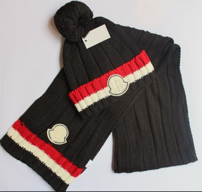Vente chaude nouvelle mode d'hiver et automne chaud Chapeau de haute qualité Casquette Hommes Femmes Foulard Chapeaux bonnets Echarpe réglable, nouvelle marque